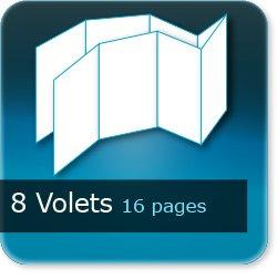 Dépliants / Plaquettes 8 volets - 16 pages - impression Couleur Recto et Verso quadri
