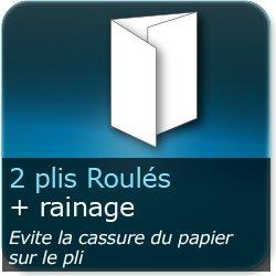 Dépliants / Plaquettes 2 plis roulés + Rainage