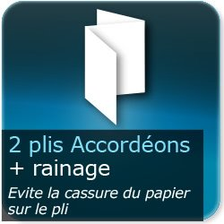 Dépliants / Plaquettes 2 plis accordéon + rainages