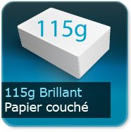 Flyers 115g couché brillant
