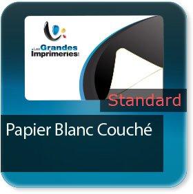 Autocollant & Étiquette standard papier blanc