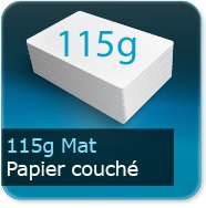Flyers 115g couché mat