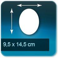 Flyers ovale 95x145mm