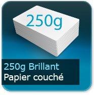 Cartes de correspondance 250g couché brillant