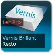 Cartes de correspondance Vernis Brillant Recto
