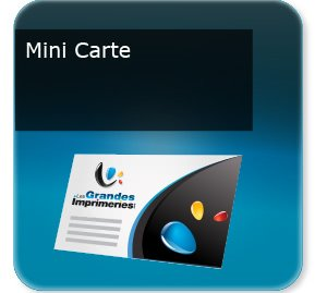carte commerciale Mini carte de visite