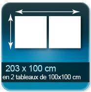 Affiches Assemblage de 2 tableaux de 100 x 100 cm pour un format de 203 x 100 cm