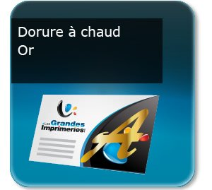 Carte message chauffagiste Dorure Or