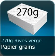 Cartes de correspondance 300g Grains Rives vergé