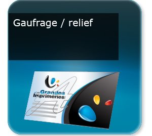 carte commerciale Gaufrage-relief