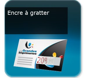 carte commerciale Encre grattable