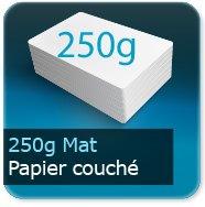 Cartes de correspondance 250g couché mat