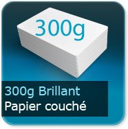 Flyers 350g couché brillant