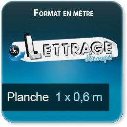 Autocollant & Étiquette Surface du lettrage jusqu'à 0,6 x 1 mètre