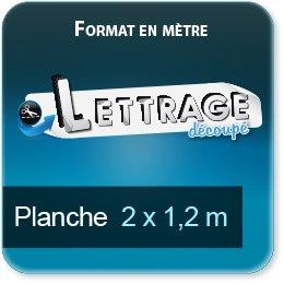Autocollant & Étiquette Surface du lettrage jusqu'à 1,2 x 2 mètres (livrée en 2 morceaux)