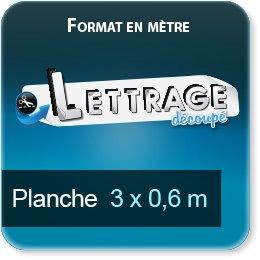 Autocollant & Étiquette Surface du lettrage jusqu'à 0,6 x 3 mètre