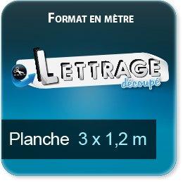 Autocollant & Étiquette Surface du lettrage jusqu'à 1,2 x 3 mètres (livrée en 2 morceaux)