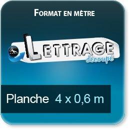 Autocollant & Étiquette Surface du lettrage jusqu'à 0,6 x 4 mètre