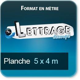 Autocollant & Étiquette Surface du lettrage jusqu'à 4 x 5 mètre (livrée en 5 morceaux)