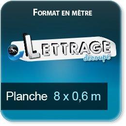 Autocollant & Étiquette Surface du lettrage jusqu'à 0,6 x 8 mètre (livrée en 2 morceaux)