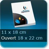 Livre dos cousu Fermé 11 x18 cm - Ouvert 22 x 18 cm