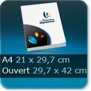 Livre dos cousu Fermé A4 21 x 29,7 cm - Ouvert 42 x 29,7 cm