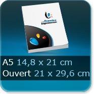 Livre dos cousu Fermé A5 14,8 x 21 cm - Ouvert 29,6 x 21 cm