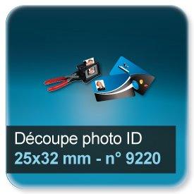 Badge Modèle pour découpe photo en 25x32mm N9220