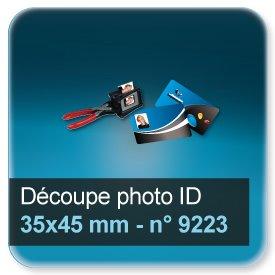 Badge Modèle pour découpe photo en 35x45mm N9223
