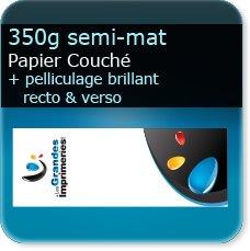 Marque pages 350g mat + pelliculage brillant recto verso