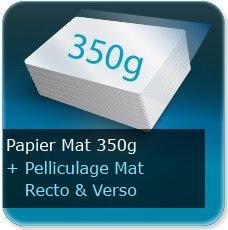 Menus 350g mat + pelliculage mat recto et verso