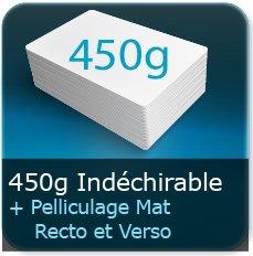 Menus 450g indéchirable + pelliculage mat recto et verso