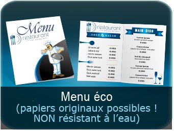 menu restaurant pas chers Menu restaurant design