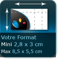 Cartes de visite Format au choix (Max 85x54mm  Minimum 28x30mm)