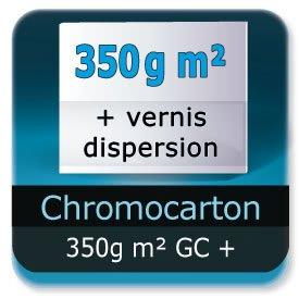 Emballage (Coffret, Boîte, carton, colis et etuis) Chromo Carton GC 350g m² + Vernis à dispersion