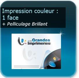 Panneaux Impression couleur recto + pelliculage brillant