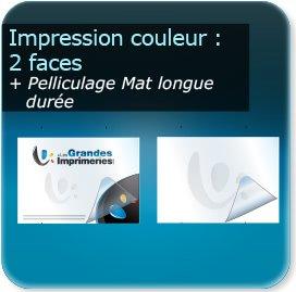 Panneaux Impression couleur 2 cotés + pelliculage mat épais (panneau longue durée)