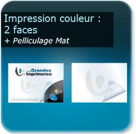 Panneaux Impression couleur 2 cotés + pelliculage mat