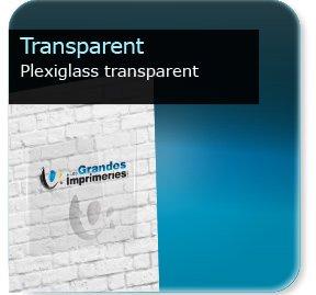 Panneau publicitaire Plexiglass transparent
