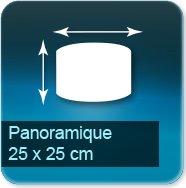 Panneaux Panoramique de 25 x 25 cm - entretoise acier fournis avec vis et chevilles pour fixation