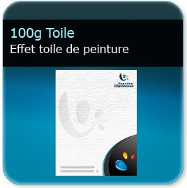 impression d entete 130g papier toile