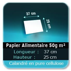 Emballage (Coffret, Boîte, carton, colis et etuis) Papier de 37,5 x 25 cm - 50g m² -alimentaire calandré en pure cellulose - Sans agent de blanchiment - encres à base d'eau