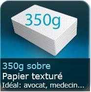 Cartes de visite 350g texturé noble