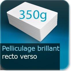 Autocollant & Étiquette 350g couché mat + pelliculage brillant recto verso
