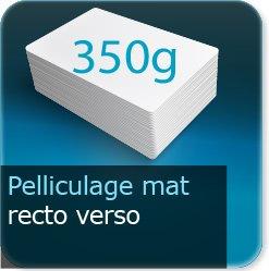 Autocollant & Étiquette 350g couché mat + pelliculage mat recto verso