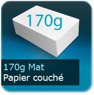 Cartes de correspondance 170g couché mat
