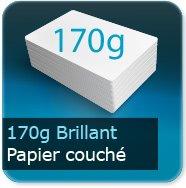 Cartes de correspondance 170g couché brillant