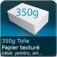 Cartes de visite 350g papier toile