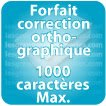 Correction orthographique 1000 Caractères max