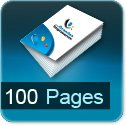 calculer le cout d impression pour brochure 100 pages